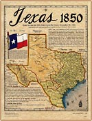 Texas 1850 Historical Map