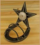 Star & Horshoe Wire Rope Business Card Holder Gift
